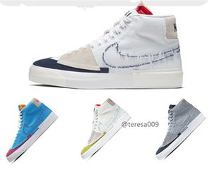 2020 Nike SB Dunk ZOOM BLAZER Mid Edge Sneakers Men Women Canvas Hack Pack Casual Running skateboard Platform shoes 36-45