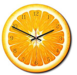 الإبداعية الكرتون الفاكهة نمط ساعة الحائط أوروبا نمط أزياء ساعات الحائط البرتقال الليمون كيوي فروت البطيخ شكل ساعة ديكور المنزل