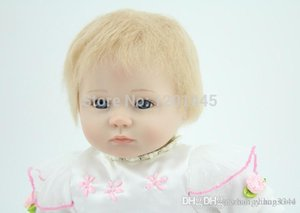 игрушка ручной работы 18inches реалистичного возродиться ребенок мягкого силикона винилового реального касания куклы новорожденный