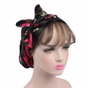 Frauen Hijabs Hat Pastoral-Art-Dame-Haar-Bänder Art und Weise moslemischen Turban Hijabs Kappen Indian Caps Wrap Cap