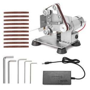 Professional Grinder Mini Portable Electric Belt Sander DIY Polishing Grinding Machine Cutter Edges Sharpener with Foot Pads