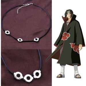 Pendente Cosplay Anime Naruto Akatsuki Itachi Uchiha la collana d'acciaio di titanio 10pcs / lot