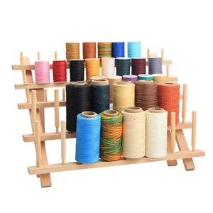 Discussione 60PCS Bobina di cucito di legno stand Organizzatore ricamo bagagli Rack Holder