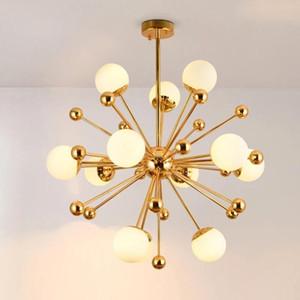Nordic diente de león Glass LED Lights colgante redondo Globe lámpara colgante accesorios ligeros para vivir DINNING contador de la barra luminiare
