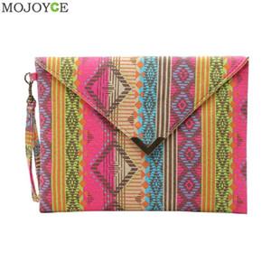 Vintage Style ethnique Femmes enveloppe d'embrayage sac à main rétro dames sac fourre-tout en toile Sacs de plage Femme National Wind Clutch