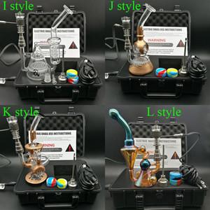 Chegam novas E Kit de Unhas Digitais elétrica dab unha TC PID caixa Dabber com três estilo de cor de galvanoplastia Dab rig bongo de água de vidro