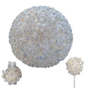 HS GELIN Lüks Düğün Buket (Bilek çiçek ve yaka çiçeği) tüm Kristal İnci Düğün Gelinlik Gelin Buketi Seti 2019