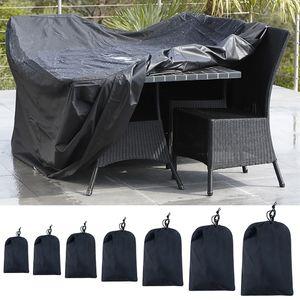 Extérieur plié Tissu Oxford Housse étanche à la poussière Mobilier imperméable Couverture portable Housse de protection
