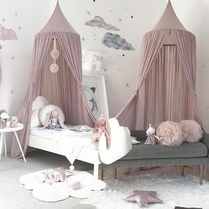 2 Farben Hängen Kinder Baby-Bettwäsche-Dome Bett-Überdachung Cotton Moskitonetz Bedcover Vorhang für Baby Lesen Spielen Home Decor