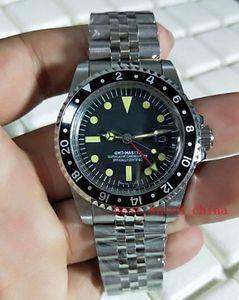 BP Factory Luxury Watch de alta calidad 40 mm Vintage GMT de zafiro de zafiro Asia 2813 Movemen mecánico automático MENS Watche