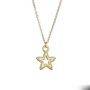Desideri Big Star Charm Pendant Collana per le donne Pentagramma Gioielli in oro argento Color Wish Garden collana regali girocollo