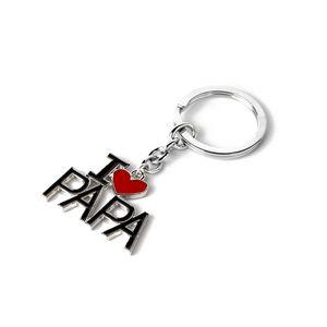 Schlüsselanhänger Love Mom Lieber Papa Keyrings 4 Styles Schlüsselanhänger Schlüsselanhänger für Mama Papa Vater der Mutter Tag Weihnachtsgeschenk