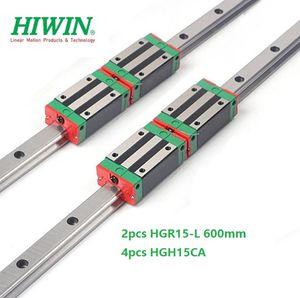 2pcs Nuovo originale HIWIN HGR15 - 600 millimetri lineare guida / guida + 4pcs HGH15CA lineare blocchi strette per cnc router parti
