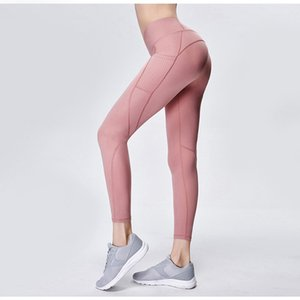 Women Tights Running Leggings Sports Pants Female Women Gym Running Mesh Workout Pants Fitness Yoga Pants With Phone Bag T200606