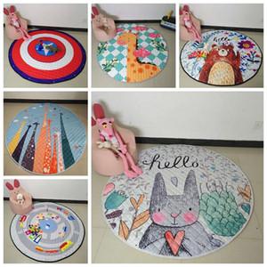 Crianças Pavimento Tapetes Organizador Blanket Tapete armazenamento de brinquedo Bebê Creeping Mats Bags Cartoon Animals Game Play Mat Crawling Blanket BC BH0750