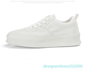 2019 new thick-soled white shoes male Korean version of the wild trend sports student casual shoes men soft leather shoes men d06
