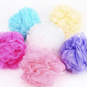 Ducha de baño esponja vegetal acoplamiento de la bola de esponja Leche Accesorios de malla de nylon cepillo de ducha bola 10g suave cuerpo de limpieza del cepillo de malla