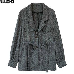 Petit NIJIUDING Veste de costume Femme Taille Mince Mince classique Casual Veste de costume casaque taille Cardigan Blazers Vêtements d'extérieur