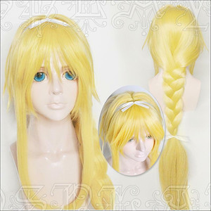 Sword Art Online Alicization Alice ponytail Gold Cosplay Anime Peluca