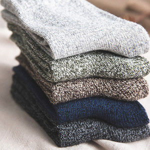 5Pairs verdicken Kaschmir Schnee-Socken Herren-Winter-warme Velvet feste beiläufige Thermal Socken Schlaf Thema Wolle Männlich Strümpfe Slipper