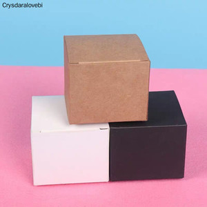 10pcs 17 sizes Brown White Black Blank Kraft Paper Box for Cosmetic Packing Valves Tubes Craft Candle Gift Packaging Boxes