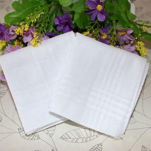 Partito 34 cm 100% cotone maschile Tavolo raso fazzoletto Towboats Piazza fazzoletto più bianco 34 cm regalo di Natale da uomo EEA470