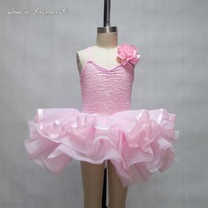 Dança Favorita rosa pálido Sparkling menina do tutu do bailado! Alta qualidade tutu performance de palco criança ballet, cor sequin tutu
