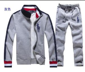 Tute cappotto da uomo Felpa Costume de sport sportswear casual vestito della tuta parti superiori di alta qualità + pantaloni tuta