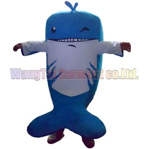 New Dolphin mascot costume Top grade deluxe cartoon character costumes Dolphin mascot suit Fancy dress party carnival Free Shipping
