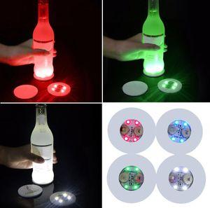 Mini Glow Coaster LED Flasche Licht Aufkleber Festival Nachtclub-Stab-Partei Vase Dekoration LED Glorifier Getränk-Schalen-Matte Dekoration Supplies