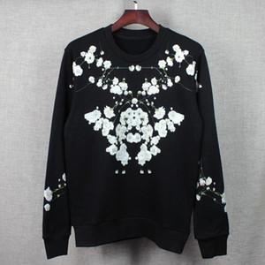 Caliente venta nuevo estilo popular de Europa y América logotipo popular estrella Floral Print hombres y mujeres de manga larga cuello redondo con capucha escudo