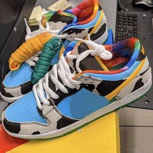 HOT Ben Jerrys x SB Dunk Low Chunky Dunky White Lagoon Pulse Université Noir Chaussures de course les plus récents Sneakers