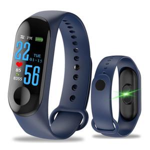 M3 شاشة ملونة سوار الرياضة عداد الخطى اللياقة البدنية ووتش الجري المشي تعقب معدل ضربات القلب الفرقة الذكية