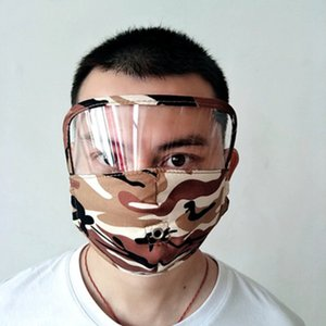3 Şeffaf Göz Kalkanı Yıkanabilir Yeniden kullanılabilir Pamuk ile 1 Yüz Mask olarak Yuvarlak Ağız Ve Fermuar Yüz Maskesi ZZA2427 İçki Maske