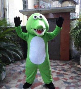 2020 прекрасный крокодил Mascot костюмы Анимированные темы Greem крокодил Cospaly Мультфильм талисман символов для взрослых Хэллоуин карнавал партия костюм