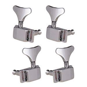 4 Pieces 2R2L Baixo cravelhas Machine Head para Electric Bass Acessório, Prata