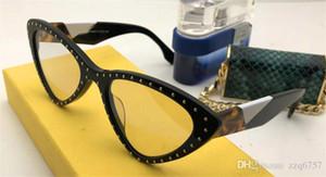2018 النظارات الشمسية مصمم الأزياء الجديدة 0323 إطار القط العين الساحرة الصغيرة مع الساقين برشام خياطة اللون أعلى جودة النمط الشعبي