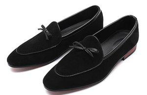 Dos homens da primavera Tassel Camurça Mocassins Estilo Italiano Matagal Couro Slip-On Sapatos Casuais Homens Cavalheiro Designer de Moda Sapatos