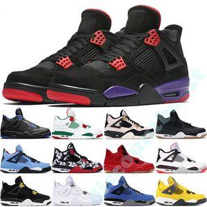 Zapatos de baloncesto prima de Giner de trigo 4S 30º Aniversario Singles láser limo rojo salpicadura de Día LightninX puro dinero Oreo Hombres 4 zapatillas de deporte
