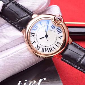 Nuovo arrivo casuale 42 millimetri delle donne degli uomini 36 millimetri 33 28 Moda orologio al quarzo in oro rosa Orologi Bleu Pallone Lady Moda Reloj Lady Orologi da polso con la scatola
