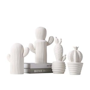 Stile nordico Ornamenti vegetali Ceramica Cactus A Forma di Arti E Mestieri Per La Casa Camera Da Letto Desktop Arredamento Arredamento Di Alta Qualità 26 BB BB