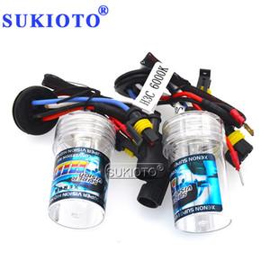 SUKIOTO AC 12V H3C Xenon HID Bulb 35W 55W 3000K Yellow 4300K 5000K 6000K 8000K 10000K Blue Ceramic Base Car Light Xenon Bulb