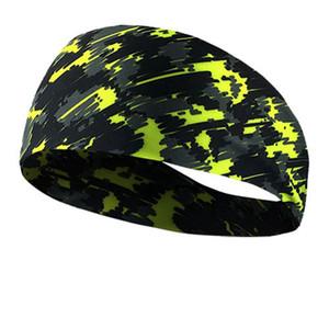 Breathable Camo Außenstirnband Fitness Kopfbedeckung Kopftuch Sport Stirnband Bandana Yoga Gym dehnbar Schweißband LJJA4021
