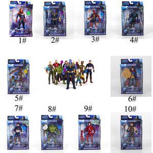 Eylem Şekiller Avengers 4 oyuncaklar el yapımı 14 bölük Hulk Iron Man Kaptan Marvel, Thanos Kaptan Amerika Kırmızı Örümcek Adam Hulk C2