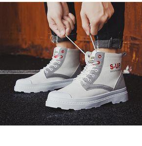 Популярные новые мужские ботинки осенью и зимой 2020 Урожай высокой верхней холст Мартин тенденции моды сапоги Мужские волк обувь кроссовки