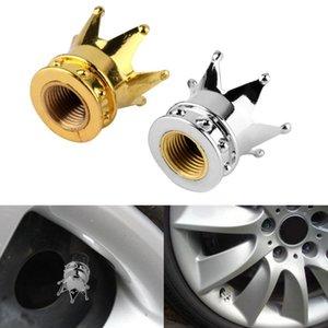1 Color de la astilla forma de corona del neumático rueda de vástago de la válvula de aire casquillos de válvula del neumático de camión de Auto bicicletas polvo a prueba de polvo Caps Caps herméticos Neumáticos Kits E1
