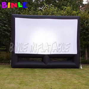 schermo cinematografico gonfiabile all'aperto formato personalizzato 6m con un panno schermo rimovibile schermo del proiettore di film Cinema Teatro posteriore Portable