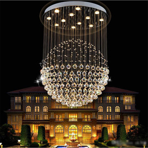 Lüks Modern Avize tasarım K9 kristal işık kolye lamba ile 35 W LED GU10 Ampuller LED Tavan Işık Küre karahindiba Şekli Lambaları