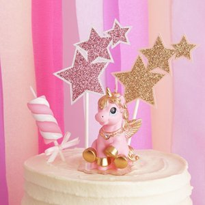 Creative Cute Horse Pony Birthday Candle Kid Child Wedding Party Gift Scented Smokeless Handmade Pink Pegasus Ponies Unicorn Y200531