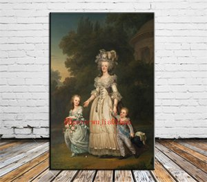 Rainha Marie Antoinette, pintura da lona Pintura Sala Home Decor Mural Art óleo moderna